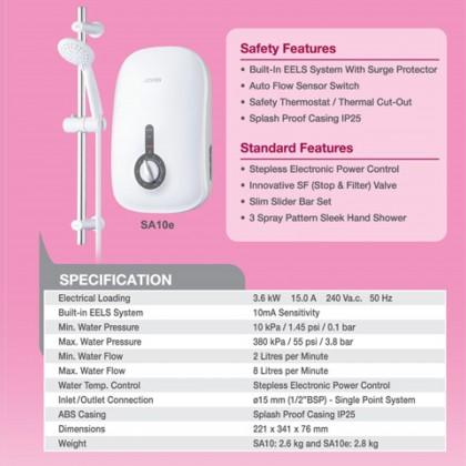 Joven SA10E Water Heater